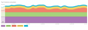 NewRelic top5 processes by memory consumption